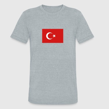National Flag Of Turkey - Unisex Tri-Blend T-Shirt