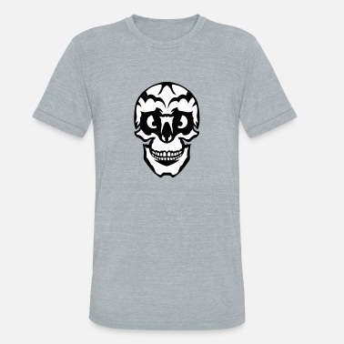 Appearance wicked appearance skull - Unisex Tri-Blend T-Shirt