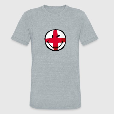 English Flag SmileyWorld English Flag - Unisex Tri-Blend T-Shirt
