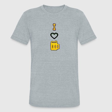 beer I love beer - Unisex Tri-Blend T-Shirt