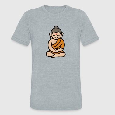 Buddha Cartoon - Unisex Tri-Blend T-Shirt