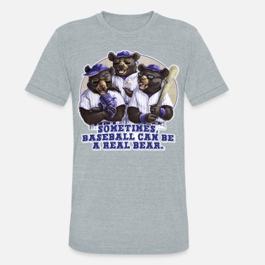 Sports Bear Baseball - Unisex Tri-Blend T-Shirt