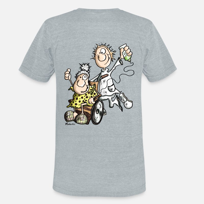 Caregiver T-Shirts - Funny Caregiver - Unisex Tri-Blend T-Shirt heather gray