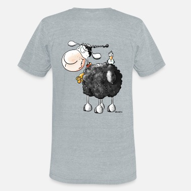 Sheep Funny Curly Sheep - Unisex Tri-Blend T-Shirt