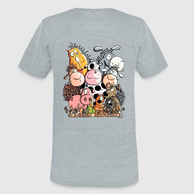 Funny Farm Animals - Unisex Tri-Blend T-Shirt