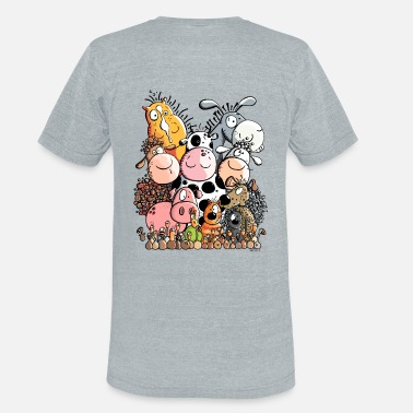 Funny Animal Funny Farm Animals - Unisex Tri-Blend T-Shirt