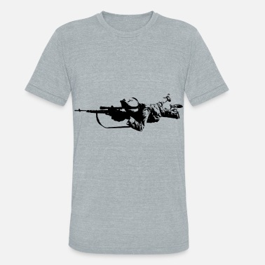 US soldier sniper military marines - Unisex Tri-Blend T-Shirt
