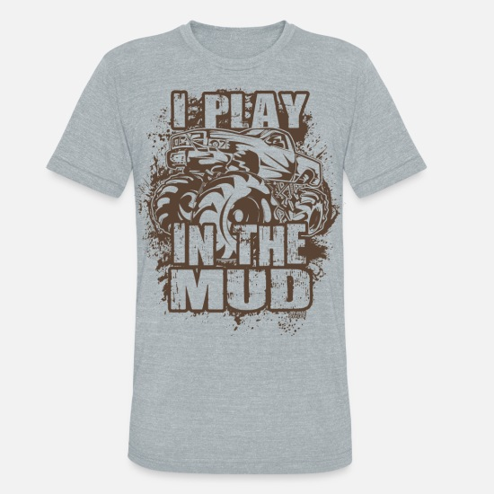 Mud T-Shirts - Mud Truck Freestyle - Unisex Tri-Blend T-Shirt heather gray