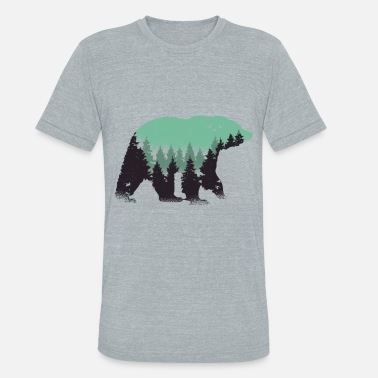 Bear In Forest Bear forest - Unisex Tri-Blend T-Shirt