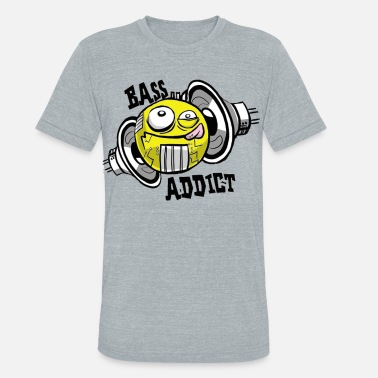 Subwoofer BASS ADDICT - Unisex Tri-Blend T-Shirt