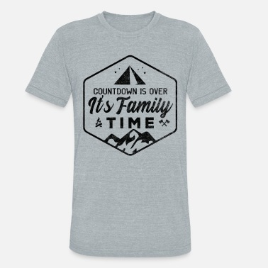 Family Camping Family Vacation Tent Holiday Camp Nature Parents - Unisex Tri-Blend T-Shirt