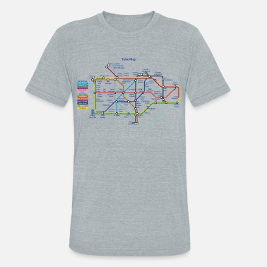 Alexandre alex day map - Unisex Tri-Blend T-Shirt