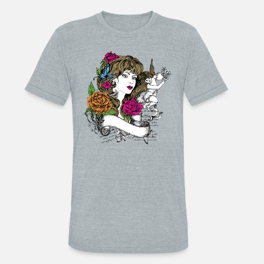 Profile Lovely Colorful woman profile - Unisex Tri-Blend T-Shirt