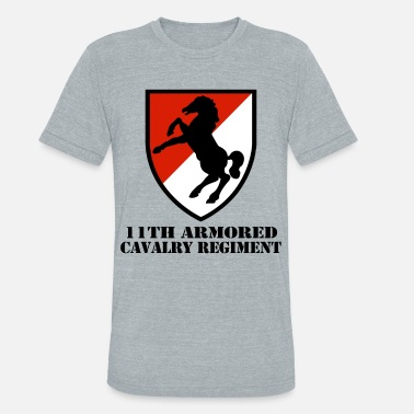 Army 11th Armored Cavalry Regiment Veteran Full Co - Unisex Tri-Blend T-Shirt