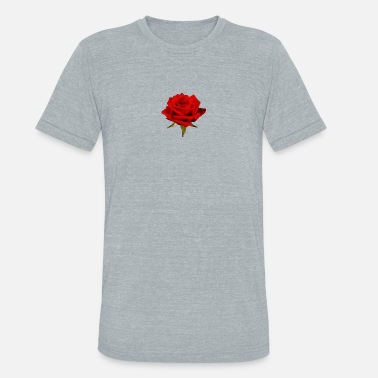 The rose A Rose is a Rose - Unisex Tri-Blend T-Shirt