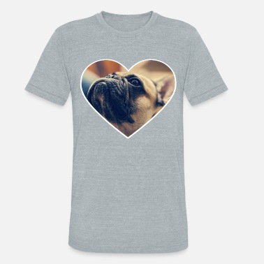 I Love Bulldog french bulldog i love - Unisex Tri-Blend T-Shirt