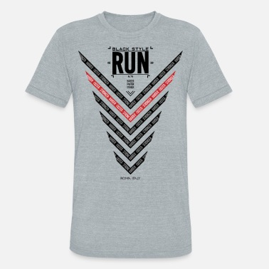 run black style print from roma italy - Unisex Tri-Blend T-Shirt