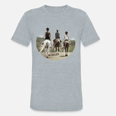 Girls Horseback Riding Horseback riding - Unisex Tri-Blend T-Shirt