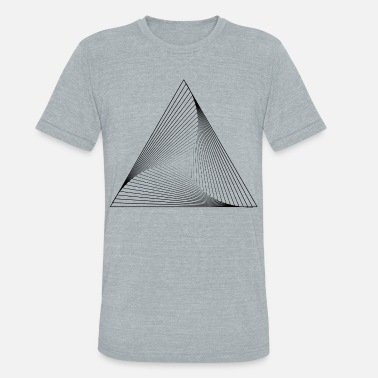 Holy Geometry geometry holy triangle psycho - Unisex Tri-Blend T-Shirt