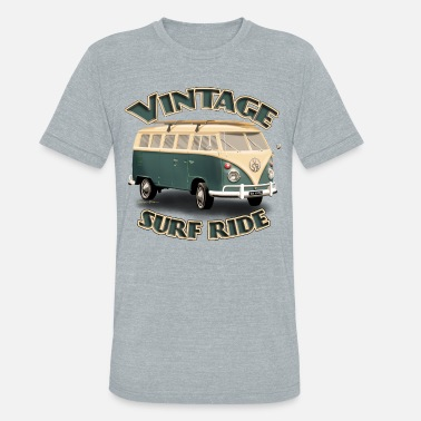 Surf Ride Vintage Surf Ride Bus - Unisex Tri-Blend T-Shirt