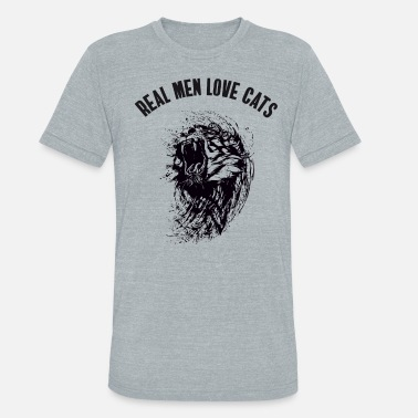 Sports Wild Cat real man love cats tiger cat wild sport football - Unisex Tri-Blend T-Shirt