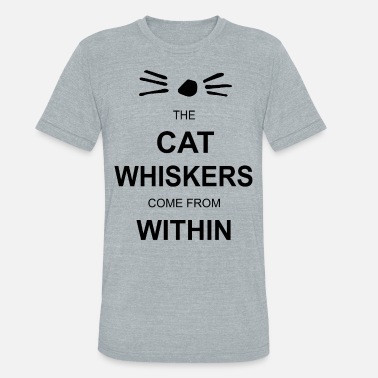 Evil Within Dan and Phil the cat whiskers come from within lad - Unisex Tri-Blend T-Shirt