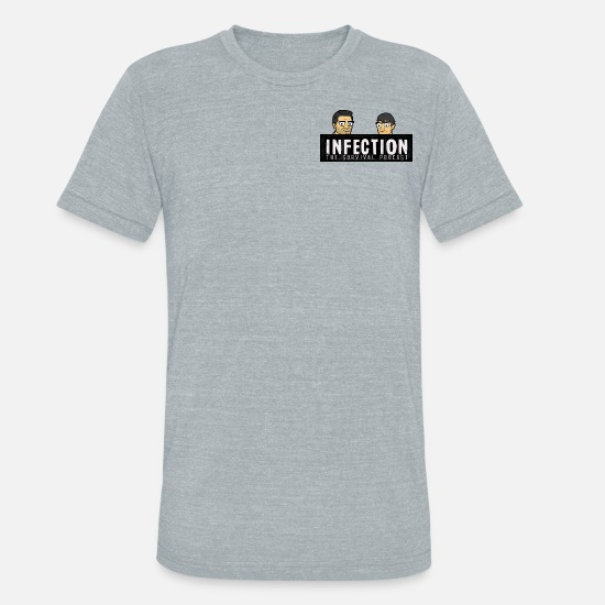 Twitch T-Shirts - Infection Podcast - Unisex Tri-Blend T-Shirt heather gray