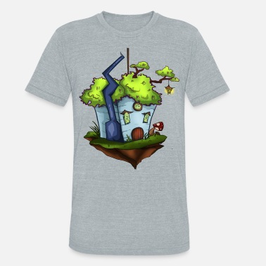 Fantasy Island Floating Island Fantasy House - Unisex Tri-Blend T-Shirt