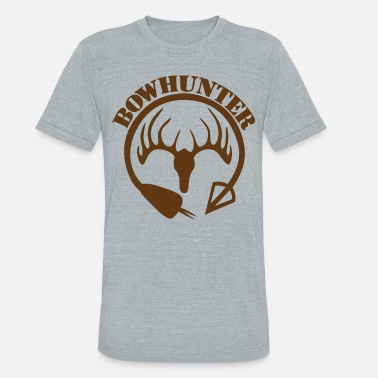 Hunters Bow Hunter | Deer Hunter - Unisex Tri-Blend T-Shirt