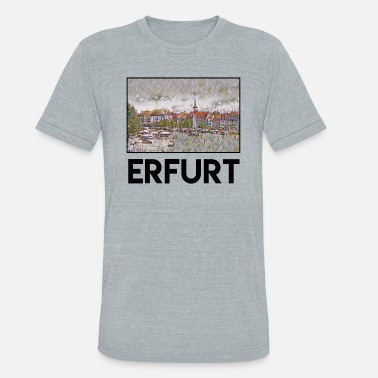 Erfurt Erfurt City Skyline Sights Silhouette Landmark - Unisex Tri-Blend T-Shirt