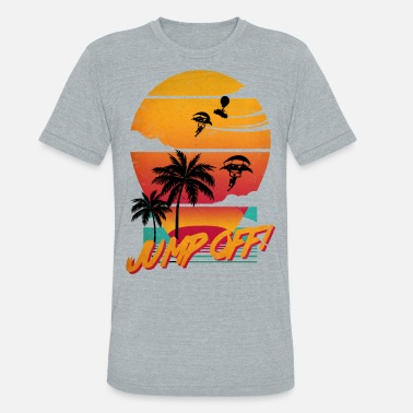 Teeing Off Jump Off! Synthwave Tee - Unisex Tri-Blend T-Shirt
