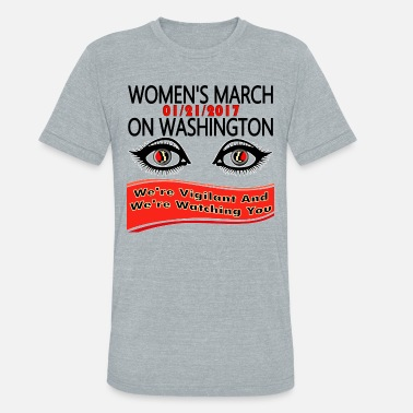 Social Conscience 1-21-2017 Women's March On Washington,DC - Unisex Tri-Blend T-Shirt