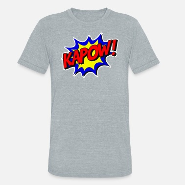 Explosives Kapow HQ Comics bang explosion - Unisex Tri-Blend T-Shirt