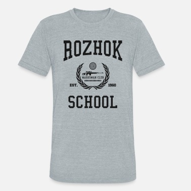 Pochinki Rozhok School Marksman Club DT - Unisex Tri-Blend T-Shirt