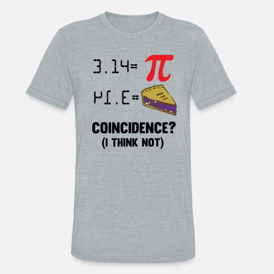 Algebra T-Shirts - Pi Day Math cake pun funny gift - Unisex Tri-Blend T-Shirt heather gray