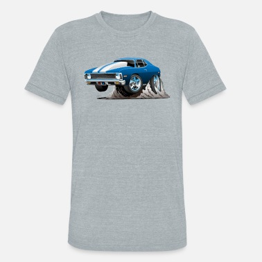 Nova Classic American Muscle Car Cartoon - Unisex Tri-Blend T-Shirt