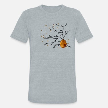 Honey Bee Honey Bees - Unisex Tri-Blend T-Shirt
