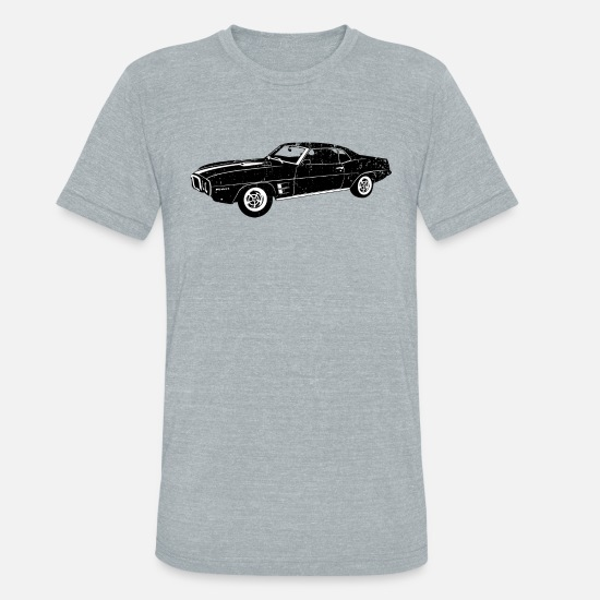 1969 T-Shirts - 1969 Pontiac Firebird - Unisex Tri-Blend T-Shirt heather gray