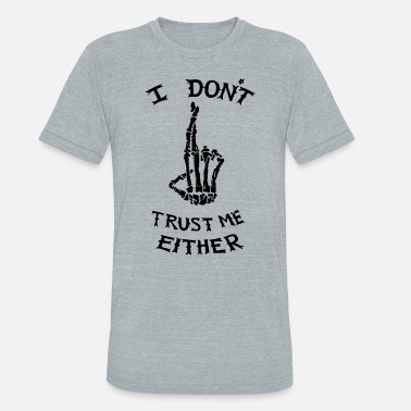 Luke Hemmings i don't trust me either - Unisex Tri-Blend T-Shirt