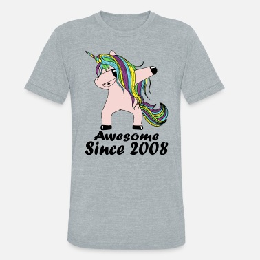 Fuck Awesome Since awesome since 2008 unicorn - Unisex Tri-Blend T-Shirt
