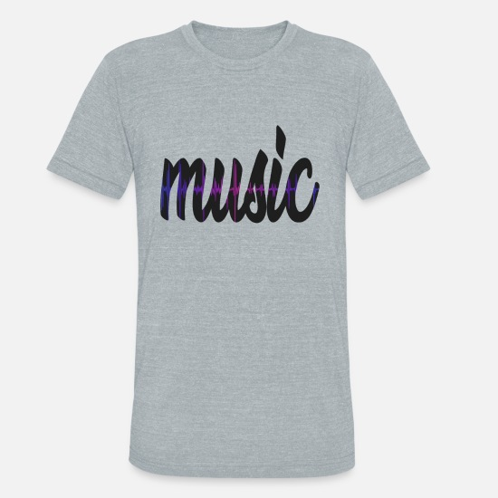 Love T-Shirts - music - Unisex Tri-Blend T-Shirt heather gray