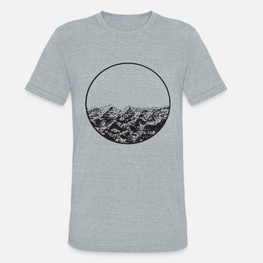 Nautical Circle Waves Indie Hipster Tumblr Tee Ret - Unisex Tri-Blend T-Shirt