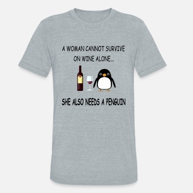 Catalina a woman cannot survive on wine t shirts - Unisex Tri-Blend T-Shirt