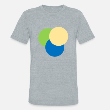 Three Circles Three colored circles - Unisex Tri-Blend T-Shirt
