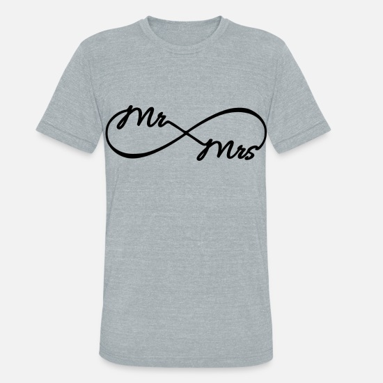 Anniversary T-Shirts - Infinity Mr. and Mrs. - Unisex Tri-Blend T-Shirt heather gray