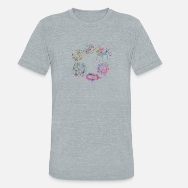 Microbe Human viruses and microbes - Unisex Tri-Blend T-Shirt