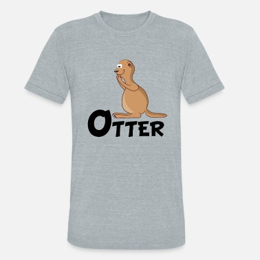 Cartoon Otter Cartoon Otter - Unisex Tri-Blend T-Shirt