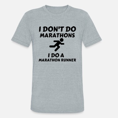 Runner Stuff DO MARATHON RUNNER - Unisex Tri-Blend T-Shirt