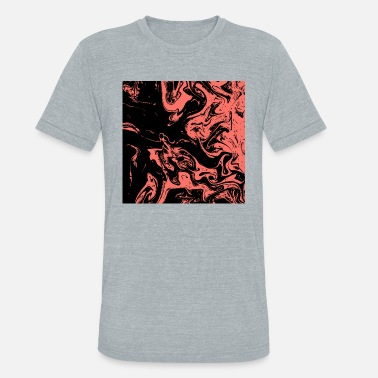 Pantone Colors Abstract Marble Pantone 2019 v5 - Unisex Tri-Blend T-Shirt
