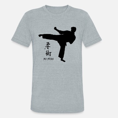 Vintage Illustration Vintage Karate Illustration - Unisex Tri-Blend T-Shirt